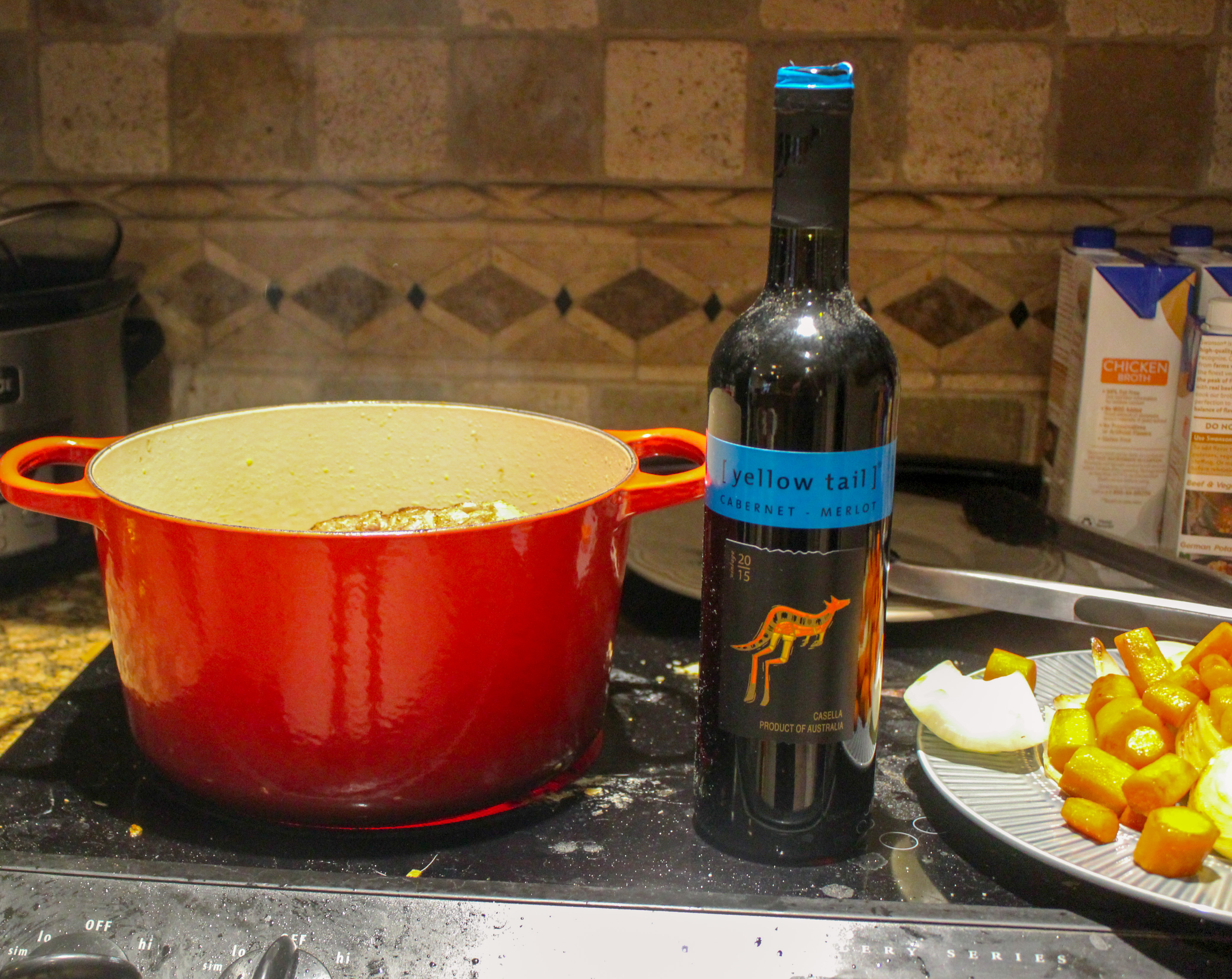 Add wine to the pot!