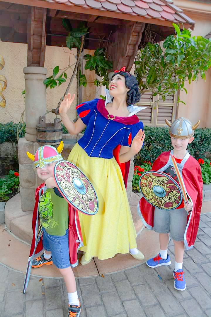 Always in Character for the Princesses!