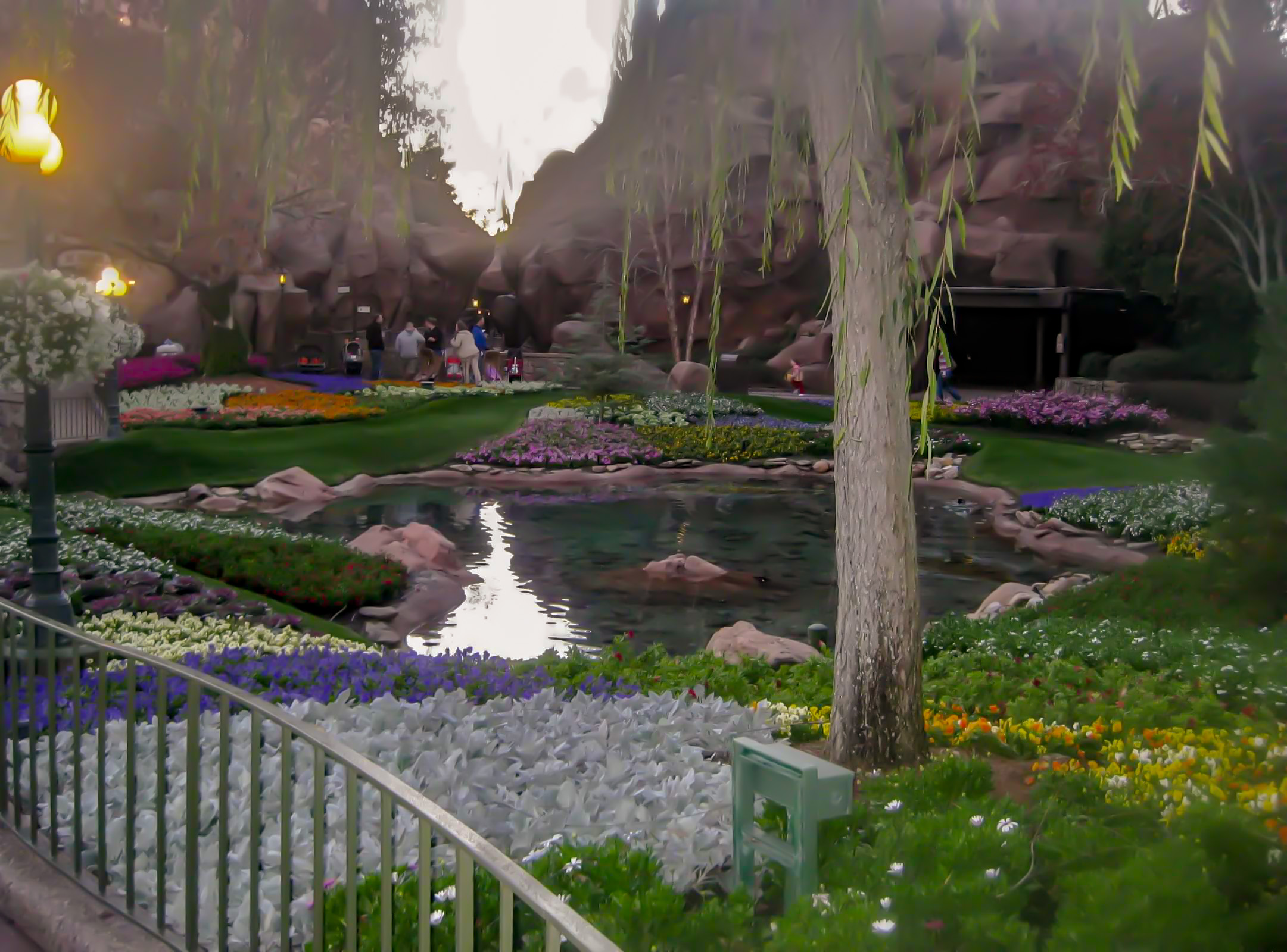 Garden leading to Le Cellier in Canada Pavilion, Epcot World Showcase