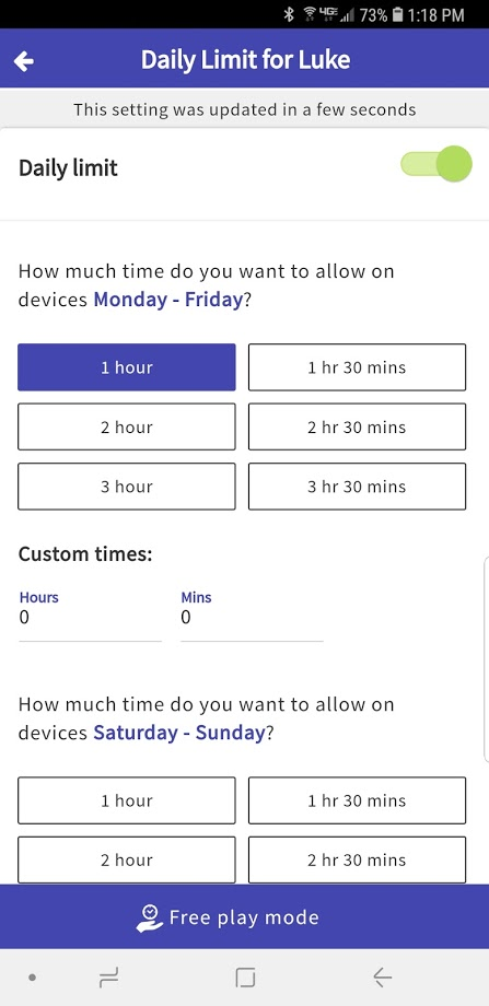 Setting Up the Screen Time App