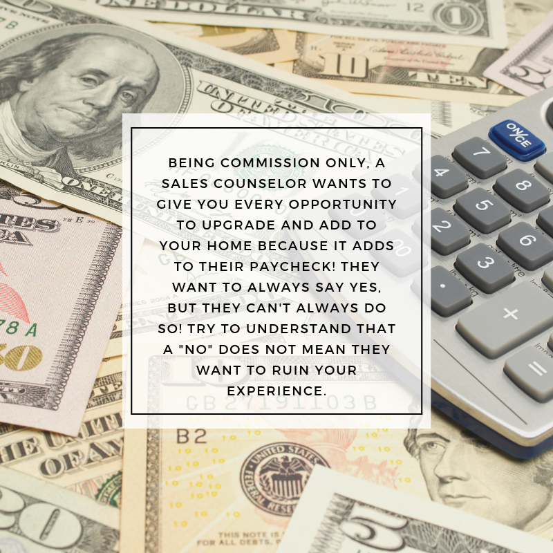 sales counselors are commission only